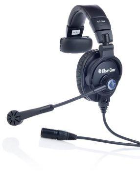 Clearcom CC-300-X5 Single-Ear Headset with 5-pin Male XLR