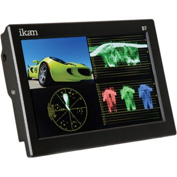 """Ikan D7W-1 3G-SDI/HDMI Field Monitor 7"""" w/Waveform"""