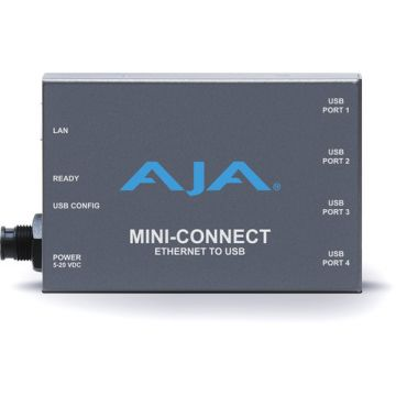 AJA Mini-Connect Ethernet to 4-Port USB Converter-Main
