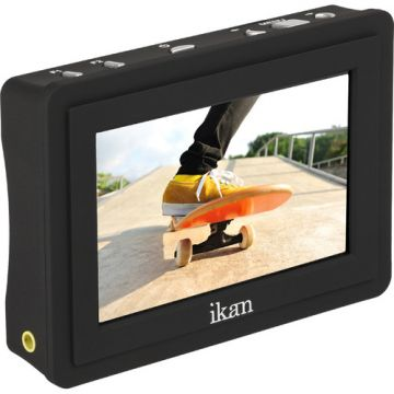 Ikan VL35 Monitor with Canon LP-E6 Battery Plate