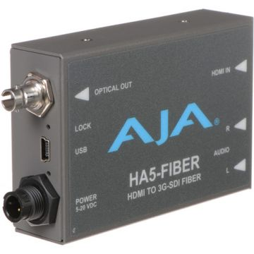 AJA HA5-Fiber HDMI to 3G-SDI Fiber Mini Converter-Main