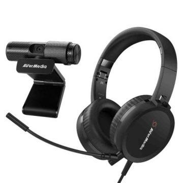 AVerMedia Video Conferencing Kit Webcam & Headset Bundle BO317