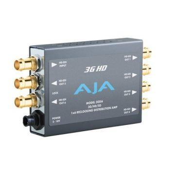 AJA 3GDA 1x6 3G/HD/SD Reclocking Distribution Amplifier-Main