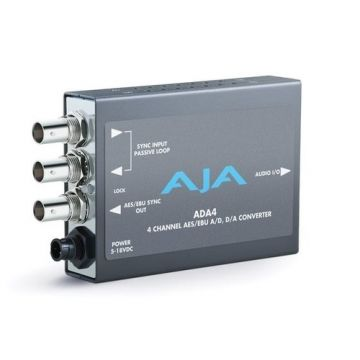 AJA ADA4 4-Channel Bi-Directional Audio A/D & D/A Converter-Main