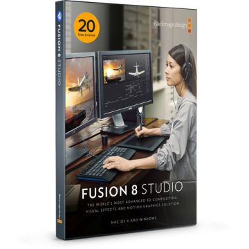 Blackmagic Design Fusion 8 Studio (20 User License Pack)