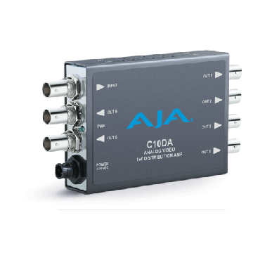 AJA C10DA Analog Video 1x6 Distribution Amplifier-Main