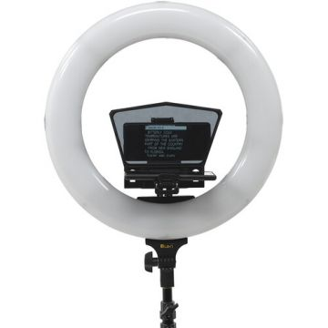 "iKan HomeStream Phone Teleprompter w/ 18"" Ring Light and Stand"
