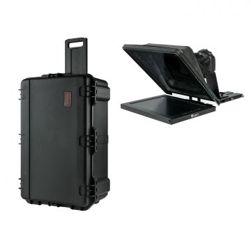 "IKan Professional 15"" High Bright Teleprompter w/ 3G-SDI Travel Kit"